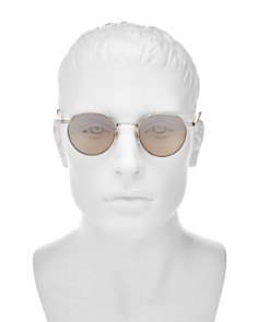 GARRETT LEIGHT - Men's Wilson Mirrored Round Sunglasses, 49mm